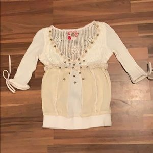 Free people cream shirt.